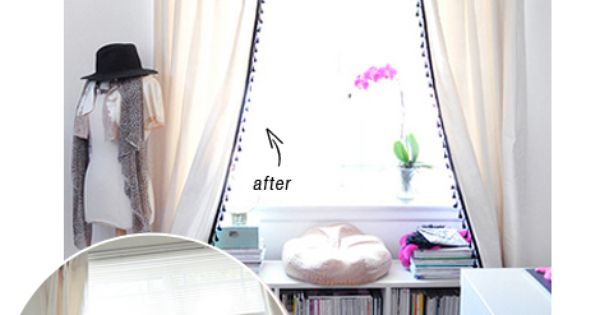 DIY Modern Fringed Curtains | Book storage, Modern and Storage