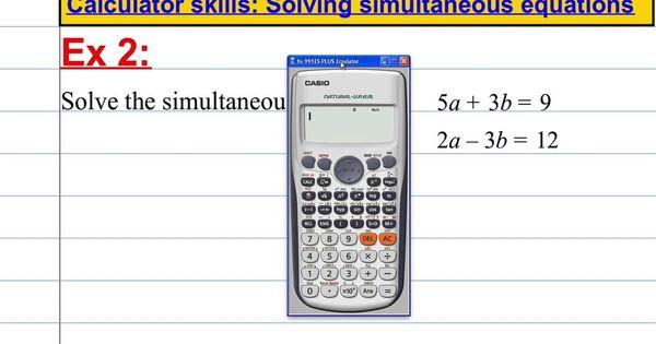 Casio Fx 991es Plus Calculator Skills Solving Simultaneous