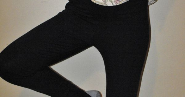 image Long toes and stirrup leggings tease