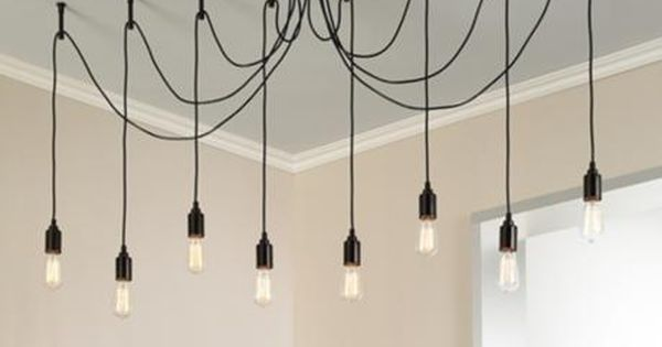 Europa 1910 edison bulb bronze swag chandelier lighting pinterest multi - Lustre multi ampoules ...