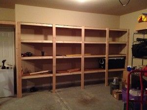 Garage Shelves Build 6 22 Deep 14 Long With Plywood Shelves
