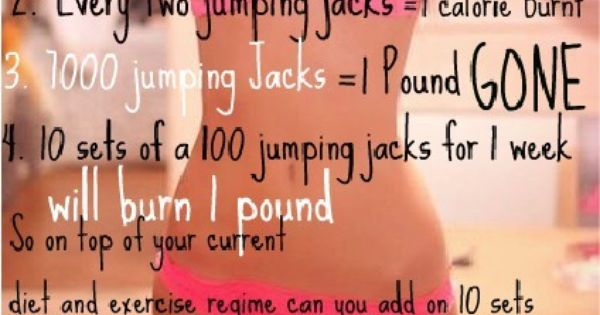1000 jumping jacks= 1 pound gone exercise fitness jumpingjacks