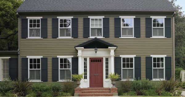 paint color ideas for colonial revival houses exterior colors paint. Black Bedroom Furniture Sets. Home Design Ideas