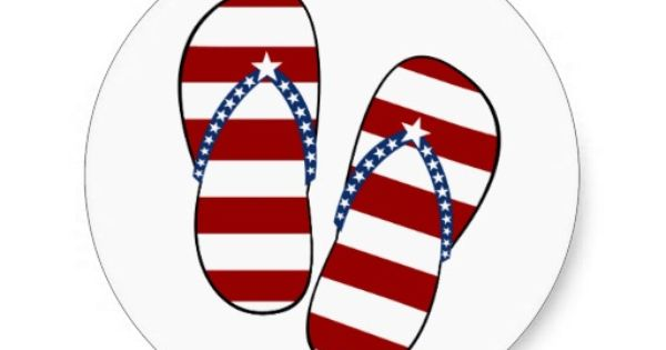 Patriotic Flip Flops Clip Art Patriotic Clipart