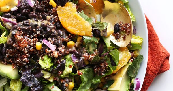 Mexican Quinoa Salad with Orange Lime Dressing | Receta | Cilantro ...
