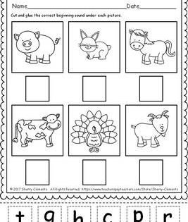 Farm Animals Beginning Sounds Freebie By Sherry Clements Tpt In 2020 Beginning Sounds Farm Animals Preschool Fun