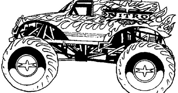 monster trucks coloring pages 6 for my favorite kids