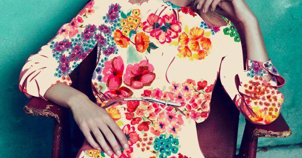 floral dress vogue cover