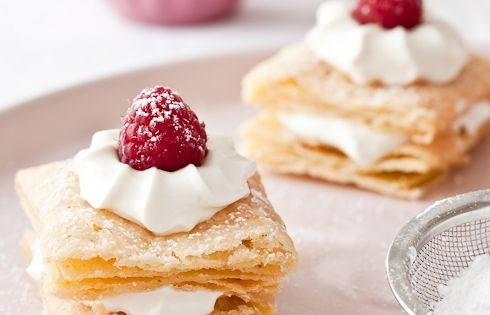 Gluten Free Puff pastry and recipes for Mille Feuilles With Mascarpone lemon