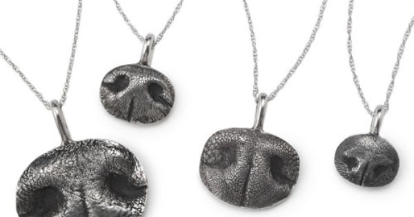 CUSTOM PET NOSE PRINT NECKLACE - OMG I'm obsessed with my dog's