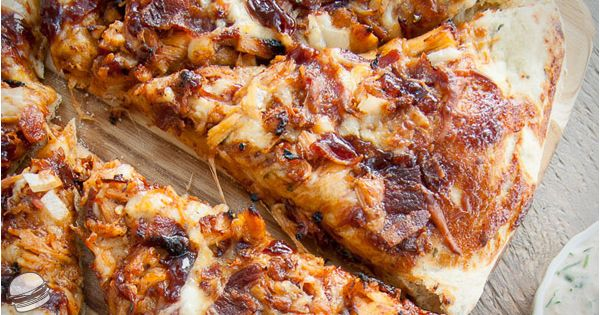 bbq chicken and bacon pizza | yummm | Pinterest | Shredded Bbq Chicken ...
