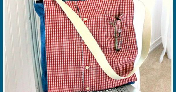 Upcycle a Man's Shirt into A Messenger Bag