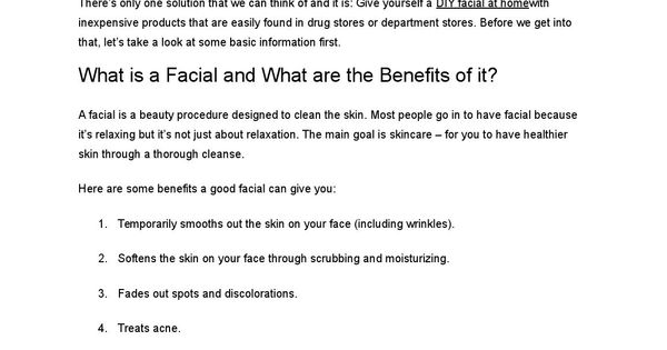DIY Pore Cleaning and Deep Cleansing Facial u2013 with simple photo - How To Write Agenda For A Meeting