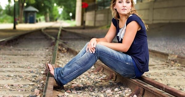 Senior pictures idea. I like train tracks for senior pictures. :)