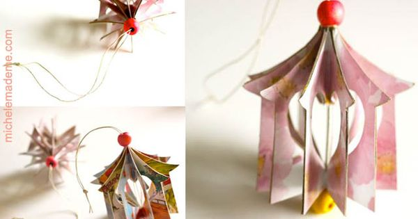 Tutorial ♥ Heart House Ornament You will need: Old greeting cards or