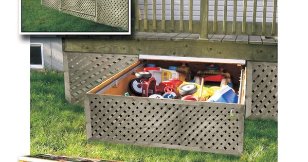 Adjustable under deck drawer rona outdoor shed garden for Chaise adirondack rona