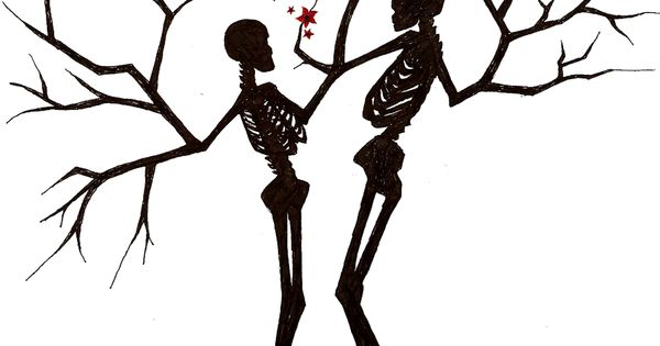 Skeleton Trees by ~sandraen I would love this as a tattoo...