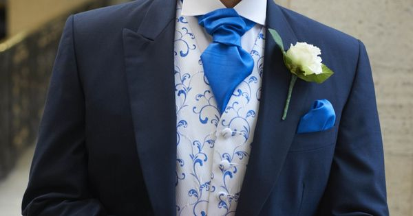 The Forton Tailcoat Suit With The Royal Blue Waitcoat