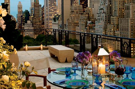 New York City view from balcony