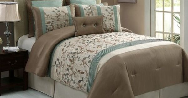 Ultra-Soft 7-Piece Luxury Kemp Comforter Set All Season Year Round Medium Weight