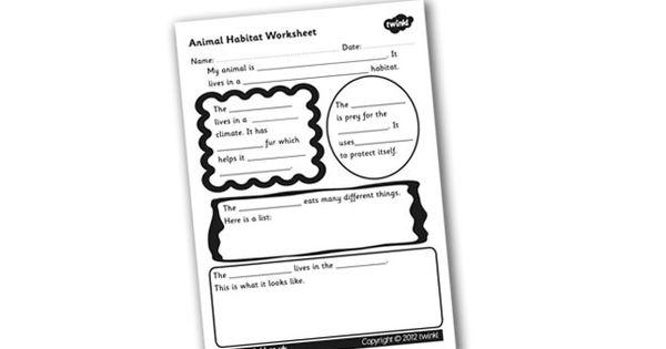 habitats animal habitats worksheet science pinterest habitats animal habitats and worksheets. Black Bedroom Furniture Sets. Home Design Ideas