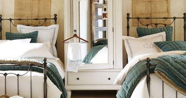 Savannah Bed, Headboard and Wardrobe from Pottery Barn.