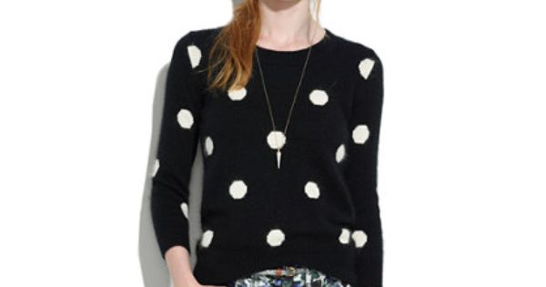 Spotted Snowfall Sweater | Clothes | Pinterest | Polka dot sweater ...