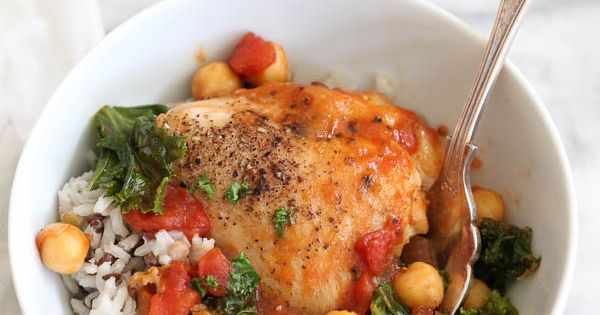 Braised chicken, Kale and Chickpeas on Pinterest