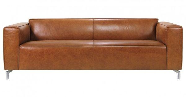 zitmaxx zitbank moore 2127 cognac stonewash. Black Bedroom Furniture Sets. Home Design Ideas