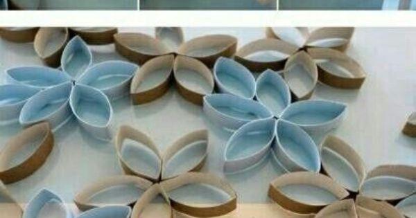 Flowers random pinterest knutselen creatieve idee n en creatief - Toiletten versieren ...