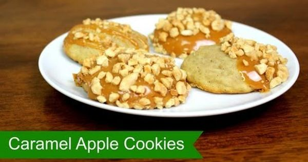 Caramel apple cookies, How to make caramel and Apple cookies on ...
