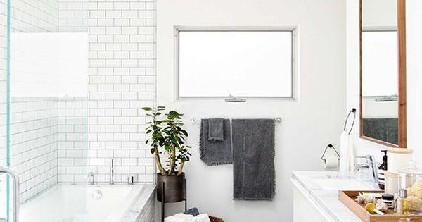 Bathroom Floor To Roof Charcoal Tiles With A Black: Love This Large Charcoal Gray Diagonal Tiles On The Floor