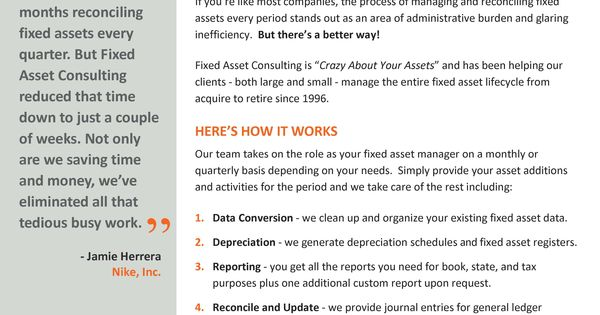 fixed asset management outsourcing brochure httpwwwjuice fixed assets manager sample - Fixed Assets Manager Sample Resume