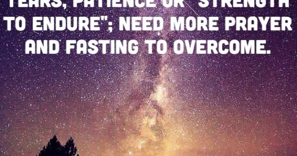 """That Problem No Needs More Tears, Patience Or """"strength To"""