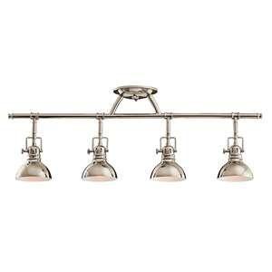 Kichler Fixed Rail 4 Light Halogen 7704pn Track Lighting Kits Kitchen Lighting Fixtures Track Lighting Kitchen