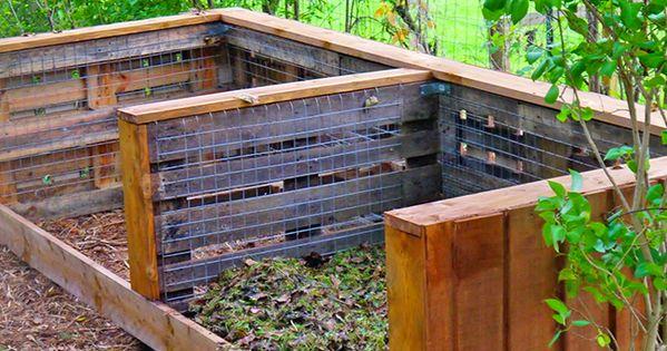 construire un composteur avec des palettes permaculture composting and gardens. Black Bedroom Furniture Sets. Home Design Ideas