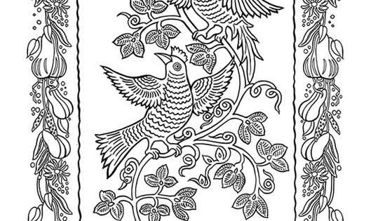 Mexican Folk Art Coloring Book :: Coloring Page 2 (Dover ...