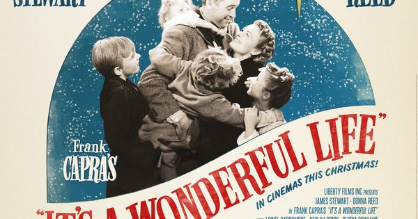 IT'S A WONDERFUL LIFE..George Bailey a small-town man played by Jimmy Stewart,