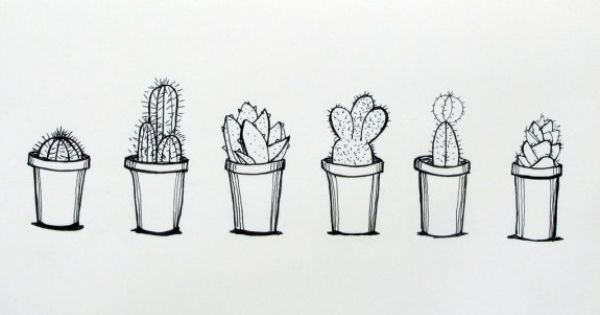 Day 85 Cactus Doodle Art Drawing Ink Pinterest