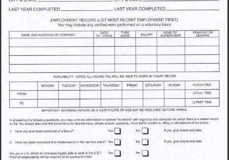 Jobs Dunkin Donuts Printable Job Applications Job Application Form Employment Application