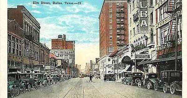 Dallas Texas Tx 1920s Town Elm Street Vaudeville Antique Vintage