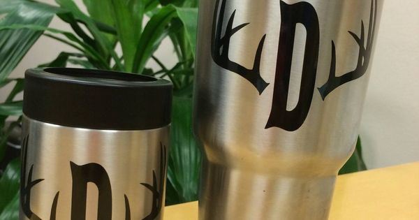 Diy Yeti Monogram Decal Antler With Initial Southern