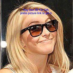 Julianne Hough Ray Ban Wayfarers Tortoise Shell Tortoise Love Celebrity Sunglasses Julianne Hough Style Rayban Wayfarer