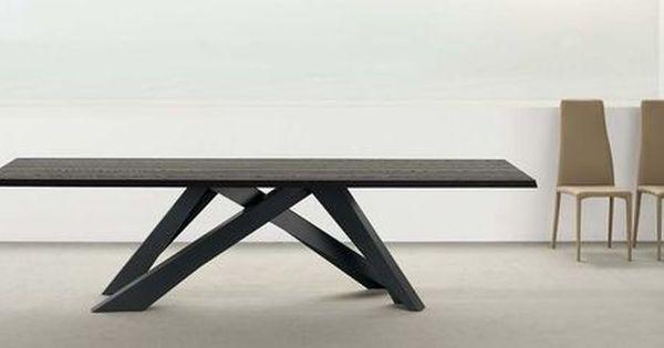 Table salle manger 25 tables design en bois m tal for Table salle a manger pied metal