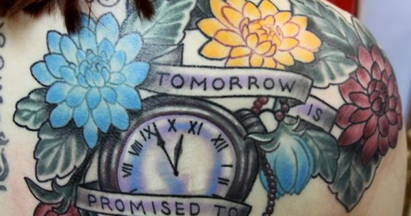 Tomorrow is promised to no one tattoo