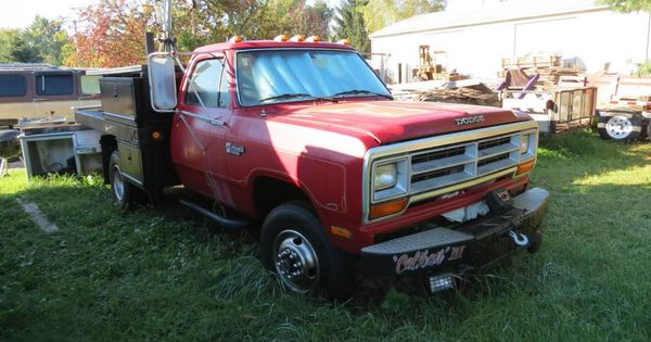 Dodge 1 Ton Flatbed 1989 Dodge Diesel 4x4 1 Ton Dually 5