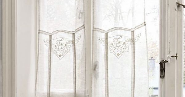 Pretty Light Airy Curtains Perfect For French Doors Via
