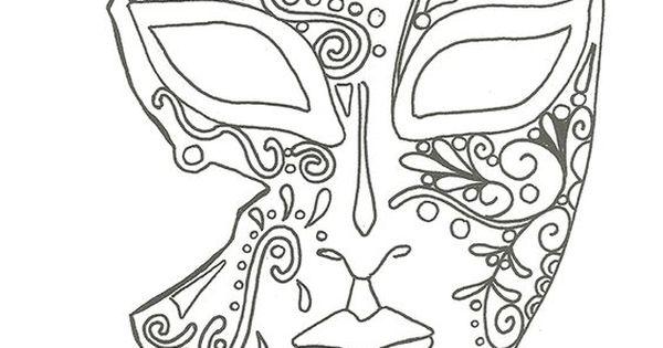 coloriage masque de Venise:   Masques Venise   Pinterest   Masking, Anti stress and Embroidery