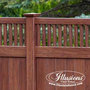 Craftsman Style Fencing Panels And Gates Illusions Fence Craftsman Style Fence Design Vinyl Fence