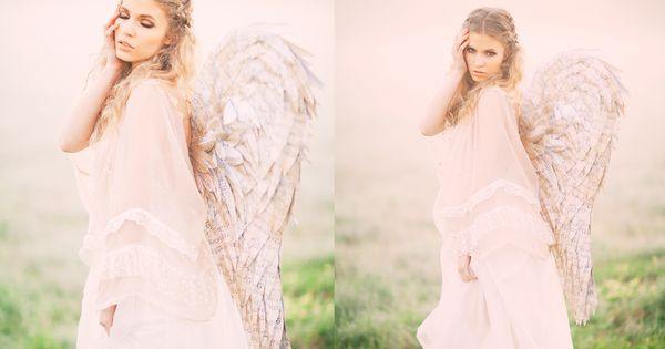 Vintage Angel with Newspaper wings!
